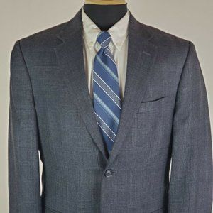 Jos. A Bank 40 R 2 Button Wool Blazer Men's Blue